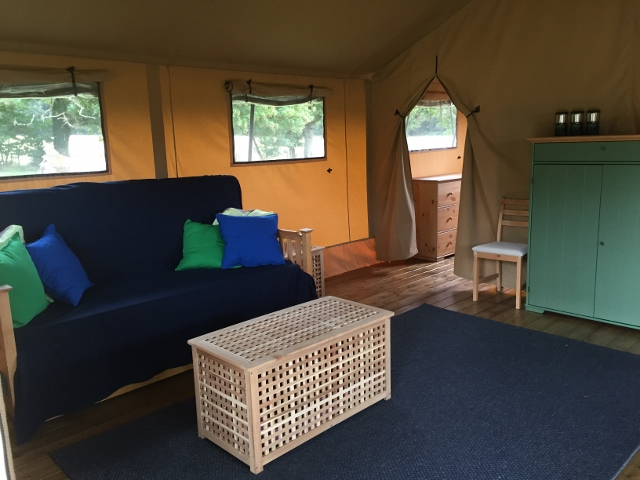 Safari tent family room
