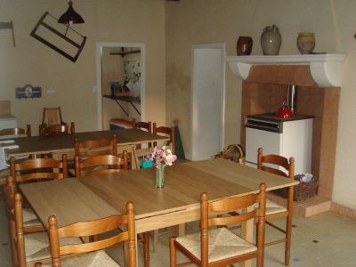 Dining area in the farmhouse