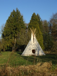 tipi ready for bed