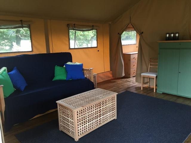 Safari tent family room